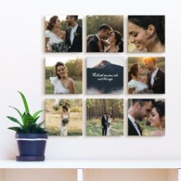 "Thumbnail for 9 Piece Mini Canvas Cluster (19""x 19"") with Fabulous 9 Collection: Collect Moments design 4"
