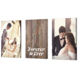 "Thumbnail for 3 Piece Canvas Cluster (24"" x 52"") with Three Of A Kind: Forever & Ever design 2"