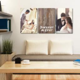 "Thumbnail for 3 Piece Canvas Cluster (24"" x 52"") with Three Of A Kind: Forever & Ever design 4"