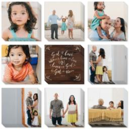 "Thumbnail for 9 Piece Mini Multi-Piece Canvas (19""x 19"") with Fabulous 9 Collection: God is Love design 2"