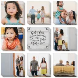 "Thumbnail for 9 Piece Mini Multi-Piece Canvas (19""x 19"") with Fabulous 9 Collection: God is Love design 3"