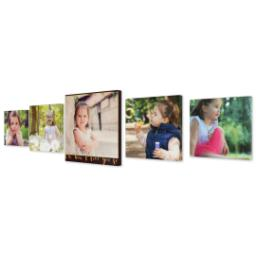 "Thumbnail for 5 Piece Canvas Cluster (16""x 60"") with Picture It Squared: How I Love You So design 2"