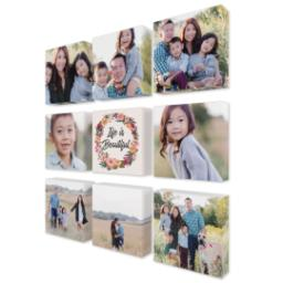 "Thumbnail for 9 Piece Mini Canvas Cluster (19""x 19"") with Fabulous 9 Collection: Life is Beautiful design 2"