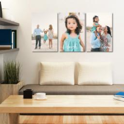 "Thumbnail for 3 Piece Multi-Piece Canvas (24"" x 52"") with Three Of A Kind: Live, Laugh, Love Trio design 4"