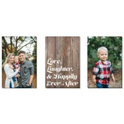 "Thumbnail for 3 Piece Canvas Cluster (24"" x 52"") with Three Of A Kind: Love, Laughter & Ever After Trio design 1"
