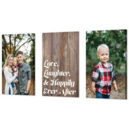 "Thumbnail for 3 Piece Canvas Cluster (24"" x 52"") with Three Of A Kind: Love, Laughter & Ever After Trio design 2"