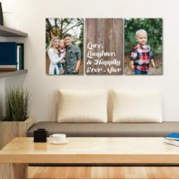 "Thumbnail for 3 Piece Canvas Cluster (24"" x 52"") with Three Of A Kind: Love, Laughter & Ever After Trio design 4"