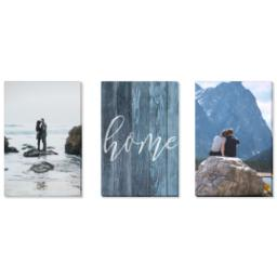 "Thumbnail for 3 Piece Multi-Piece Canvas (24"" x 52"") with Three Of A Kind: Rustic Home design 1"