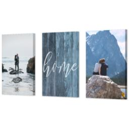 "Thumbnail for 3 Piece Multi-Piece Canvas (24"" x 52"") with Three Of A Kind: Rustic Home design 2"