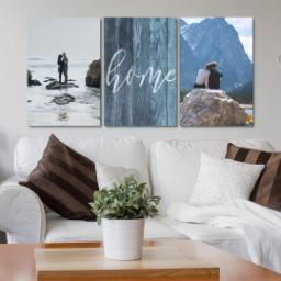 "Thumbnail for 3 Piece Multi-Piece Canvas (24"" x 52"") with Three Of A Kind: Rustic Home design 4"