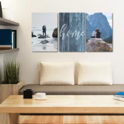 "Thumbnail for 3 Piece Multi-Piece Canvas (24"" x 52"") with Three Of A Kind: Rustic Home design 5"