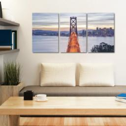 "Thumbnail for 3 Piece Canvas Cluster (24"" x 52"") with Three Of A Kind: Full Photo design 4"