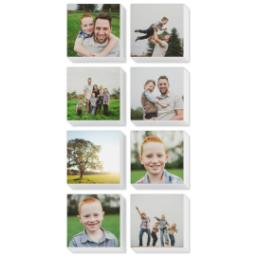 "Thumbnail for 8 Piece Mini Canvas Cluster (26""x 12"") with Sentiment Montage: White Border design 1"