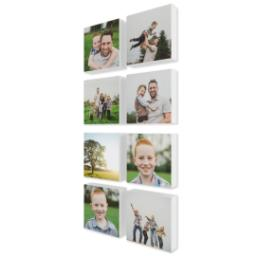 "Thumbnail for 8 Piece Mini Canvas Cluster (26""x 12"") with Sentiment Montage: White Border design 2"
