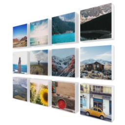 "Thumbnail for 12 Piece Mini Multi-Piece Canvas (19""x 26"") with Expression Collection: White Border design 2"