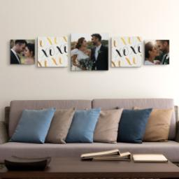 "Thumbnail for 5 Piece Multi-Piece Canvas (16""x 60"") with Picture It Squared: X and O design 4"