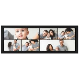 Thumbnail for 12x36 Collage Canvas With Contemporary Frame with Custom Color Collage design 1