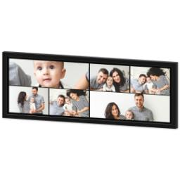 Thumbnail for 12x36 Collage Canvas With Contemporary Frame with Custom Color Collage design 2