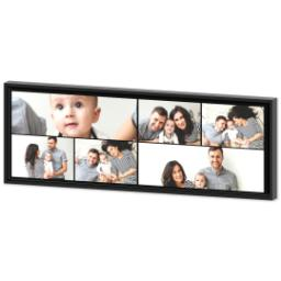 Thumbnail for 12x36 Collage Canvas With Floating Frame with Custom Color Collage design 2
