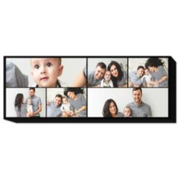 Thumbnail for 12x36 Collage Photo Canvas with Custom Color Collage design 1