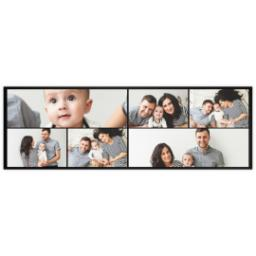 Thumbnail for 12x36 Collage Photo Canvas with Custom Color Collage design 2