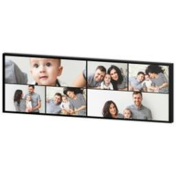 Thumbnail for 12x36 Collage Photo Canvas with Custom Color Collage design 3