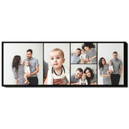 Thumbnail for 20x60 Collage Photo Canvas with Custom Color Collage design 1