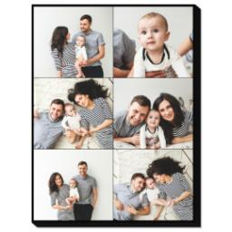 Thumbnail for 30x40 Collage Photo Canvas with Custom Color Collage design 1