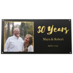 Thumbnail for 2x4 Vinyl Banner 16oz with Anniversary - Black design 1