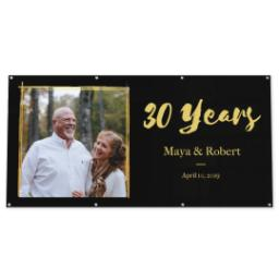 Thumbnail for 4x8 Vinyl Banner 16oz with Anniversary - Black design 1