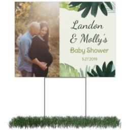 Thumbnail for Photo Lawn Sign 18x24 (with H-Stake) with Baby Shower - Jungle design 1