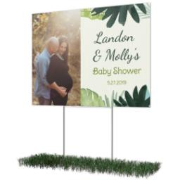 Thumbnail for Photo Lawn Sign 18x24 (with H-Stake) with Baby Shower - Jungle design 2