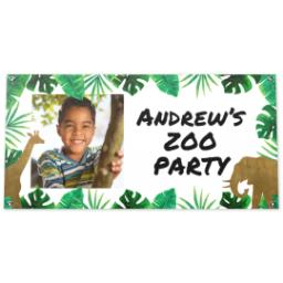 Thumbnail for 2x4 Vinyl Banner 16oz with Birthday Animals design 1