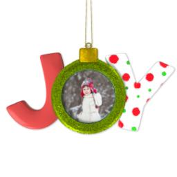Thumbnail for Joy Ornament with Full Photo design 1