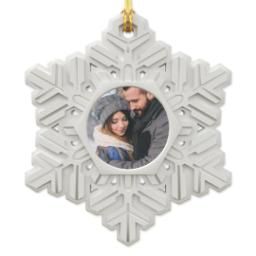 Thumbnail for Resin Snowflake Ornament with Full Photo design 1