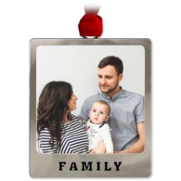 Thumbnail for Metal Frame Ornament - Family with Full Photo design 1