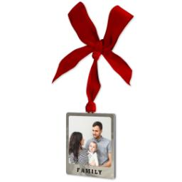 Thumbnail for Metal Frame Ornament - Family with Full Photo design 2