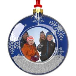 Thumbnail for Snow Scene Ornament with Full Photo design 1