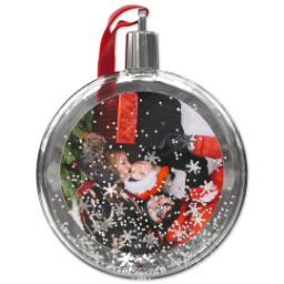 Thumbnail for Snow Globe Ornament with Full Photo design 1