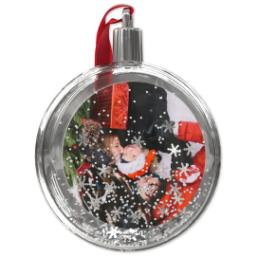 Thumbnail for Snow Globe Ornament with Full Photo design 2