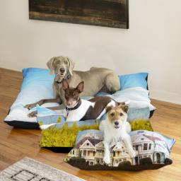 Thumbnail for Pet Bed Plush Fleece 40x30 with Full Photo design 3