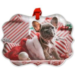 Thumbnail for Scalloped Acrylic Ornament with Full Photo design 1