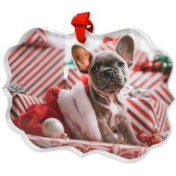 Thumbnail for Scalloped Acrylic Ornament with Full Photo design 2