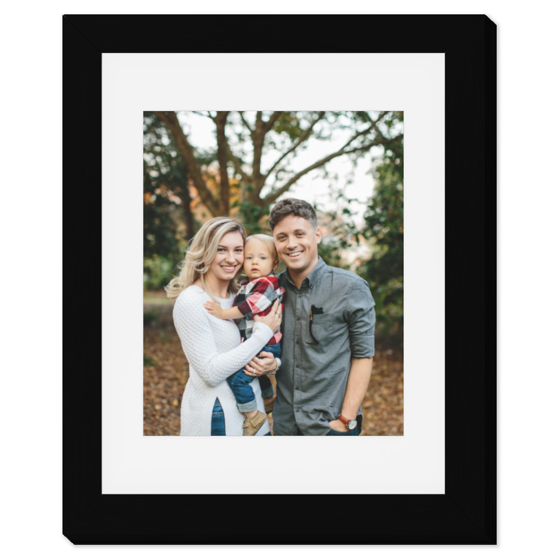 8x10 matted photo print in 11x14 frame