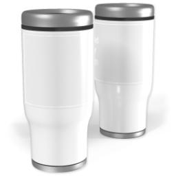 Thumbnail for Stainless Steel Collage Tumbler, 13oz with Upload Your Design design 1