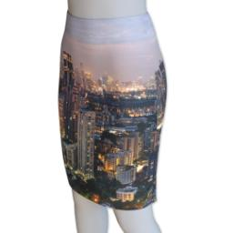 Thumbnail for Photo Pencil Skirt - Suede (Women L) with Full Photo design 1