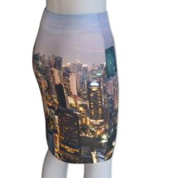 Thumbnail for Photo Pencil Skirt - Suede (Women L) with Full Photo design 3