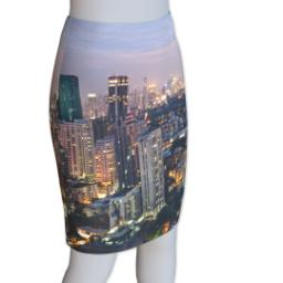 Thumbnail for Photo Pencil Skirt - Suede (Women M) with Full Photo design 4