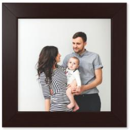 "Thumbnail for 12x12 Photo Matte Print with 12x12 1.5"" Brown Wood Frame with Full Photo design 1"