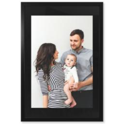 "Thumbnail for 20x30 Photo Matte Print with 24x36 1.25"" Black Wood Frame with Full Photo design 1"